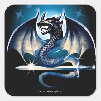 剣が付いているドラゴン スクエアシール