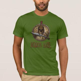 剣とスパルタ式Molon Labe Tシャツ