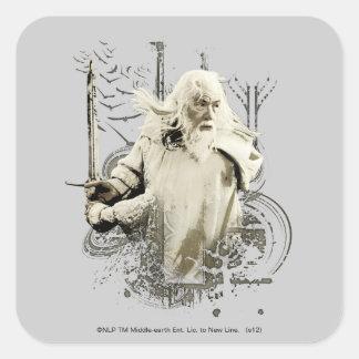 剣のベクトルコラージュとのGandalf スクエアシール