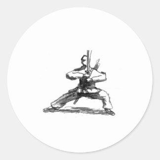 剣を持つ人 ラウンドシール