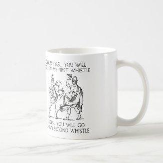 剣闘士私の最初笛で行きます コーヒーマグカップ