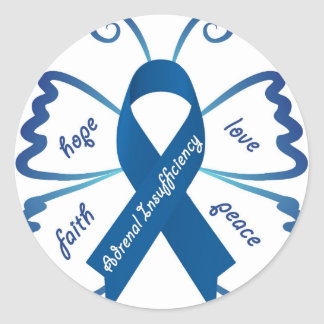 副腎の不十分: 私達はあなたのサポートを必要とします ラウンドシール