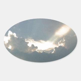 割り当てられてライトがあります! 楕円形シール