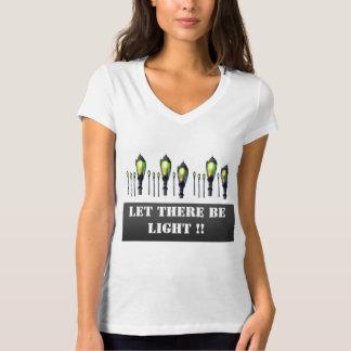 割り当てられてライトがあります Tシャツ