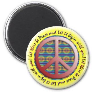 割り当てられて平和磁石があります マグネット