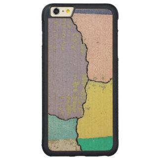 割れたセメントのパステルの都市通りの芸術 CarvedメープルiPhone 6 PLUSバンパーケース
