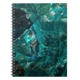 割れたティール(緑がかった色)の砂糖 ノートブック