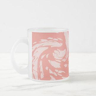 割れたモモ フロストグラスマグカップ