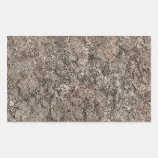 割れた乾燥した砂漠の1階の質の背景 長方形シール
