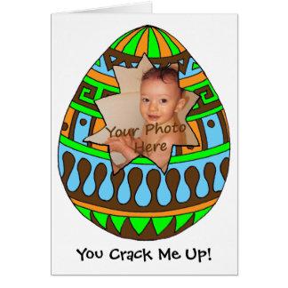 割れた卵の写真のイースターカード カード