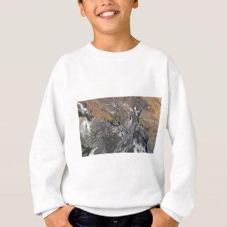 割れた塩湖の写真撮影の近代美術 スウェットシャツ
