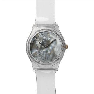 割れた氷の腕時計 腕時計