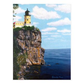 割れた石の灯台 ポストカード