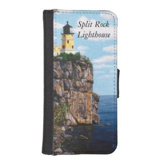 割れた石の灯台 iPhoneSE/5/5sウォレットケース