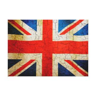 割れた英国旗 キャンバスプリント