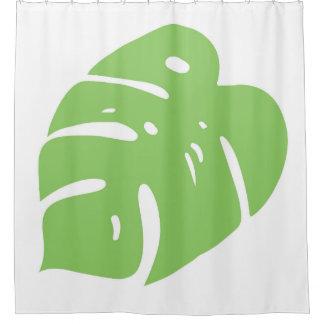 割れた葉の熱帯装飾 シャワーカーテン