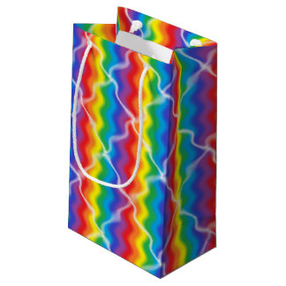割れた虹のギフトバッグ スモールペーパーバッグ