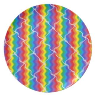 割れた虹のプレート プレート