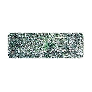 割れた、緑のペンキを皮をむきます ラベル