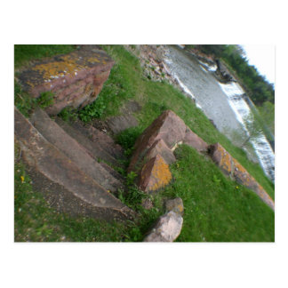 割れたRock Creekの州立公園GarretsonのSDの郵便はがき ポストカード