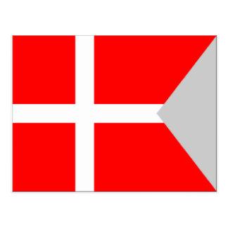 割れ目(デンマーク)の旗 ポストカード