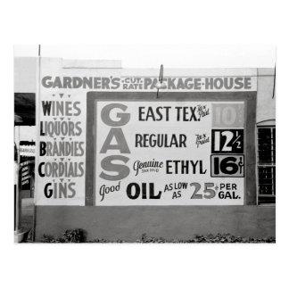 割引Liquor及びGasoline 1939年 ポストカード