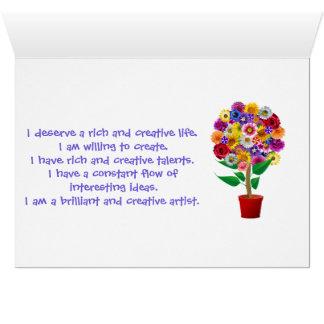 創造性の断言カード-毎日の信念の倍 カード