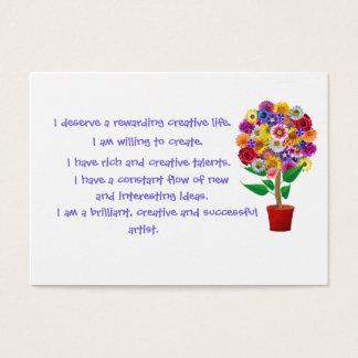 創造性の断言カード-毎日の信念 名刺