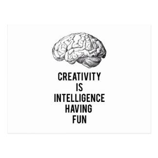 創造性は楽しい時を過す知性です ポストカード