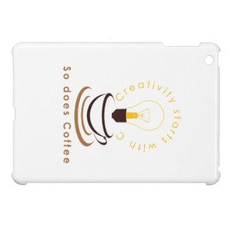 創造性はCから、そうしますコーヒーを始まります iPad MINIケース