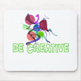創造的があって下さい マウスパッド