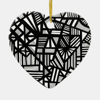 創造的で愛想がよくかわいい美しい 陶器製ハート型オーナメント