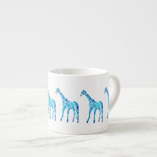創造的な水彩画のキリンのコーヒーかエスプレッソのマグ エスプレッソカップ