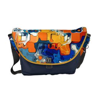 創造的な色のデザイン メッセンジャーバッグ