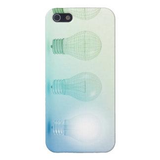 創造的な電球のアイディアの抽象芸術のインフォグラフィック iPhone SE/5/5sケース