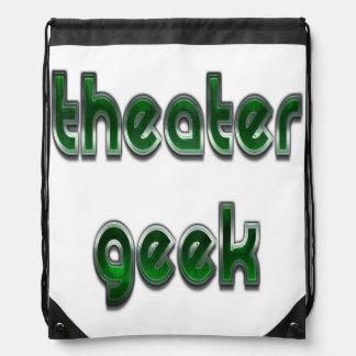 劇場のギークの緑 ナップサック