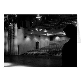 劇場のステージの白黒の写真 カード