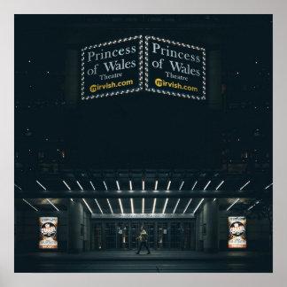 劇場の玄関ひさしポスター英国皇太子妃 プリント