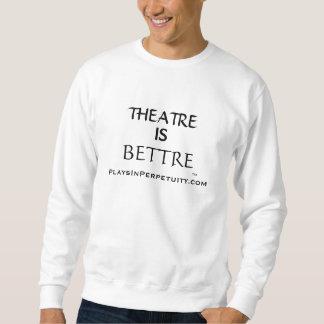 """""""劇場Bettre""""はPlaysInPerpetuityの白の汗です スウェットシャツ"""