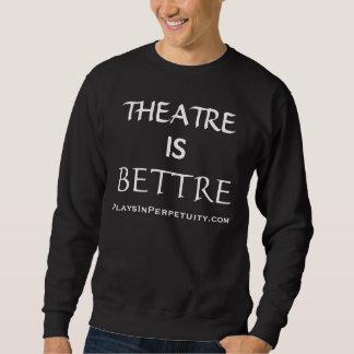 """""""劇場Bettre""""はPlaysInPerpetuityの黒の汗です スウェットシャツ"""