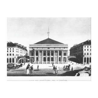 劇場de l'Odeon、c.1830 キャンバスプリント