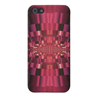 劇的で赤くおよび黒い抽象デザイン iPhone 5 ケース