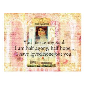 劇的で、ロマンチックなジェーンAUSTEN愛引用文 ポストカード
