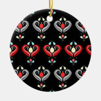 劇的なダマスク織の陶磁器のクリスマスのオーナメント セラミックオーナメント