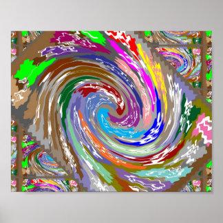 劇的なレイアウト:  波: 宇宙の銀河系の無限 ポスター