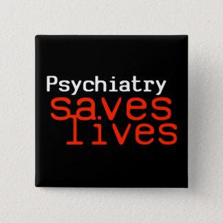 劇的な親精神医学ボタン(正方形) 缶バッジ