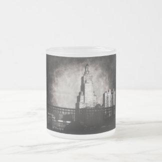 力およびライト建物、グランジなカンザスシティ フロストグラスマグカップ