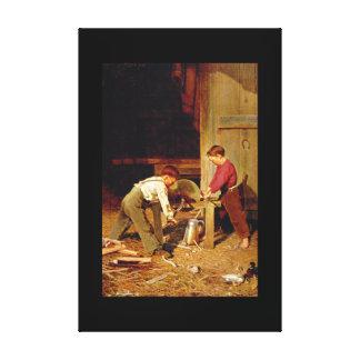 「力および技術」、Charles_Greatの芸術品 キャンバスプリント