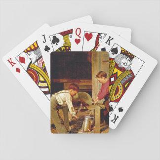「力および技術」、Charles_Greatの芸術品 トランプ
