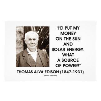 力のトーマス・エジソン日曜日の太陽エネルギーのもと 便箋